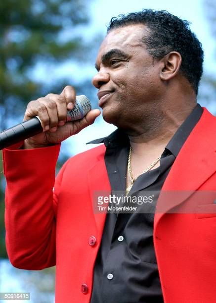 Ron Isley of The Isley Brothers performs at the '7th Annual Stone Soul Picnic' on May 31 2004 Hayward California The event is the first concert held...