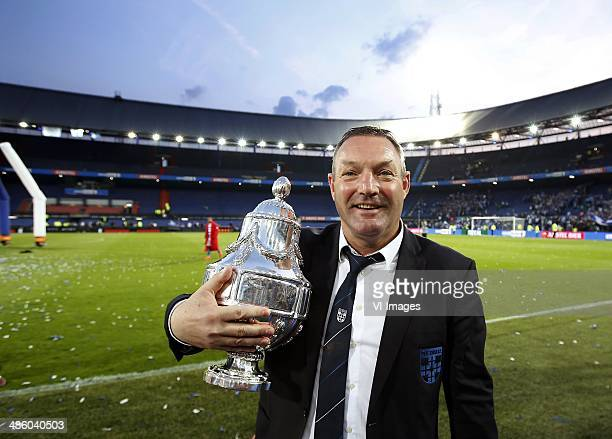 Ron Jans during the Dutch Cup final match between Pec Zwolle and Ajax Amsterdam on April 20 2014 at the Kuip stadium in Rotterdam The Netherlands