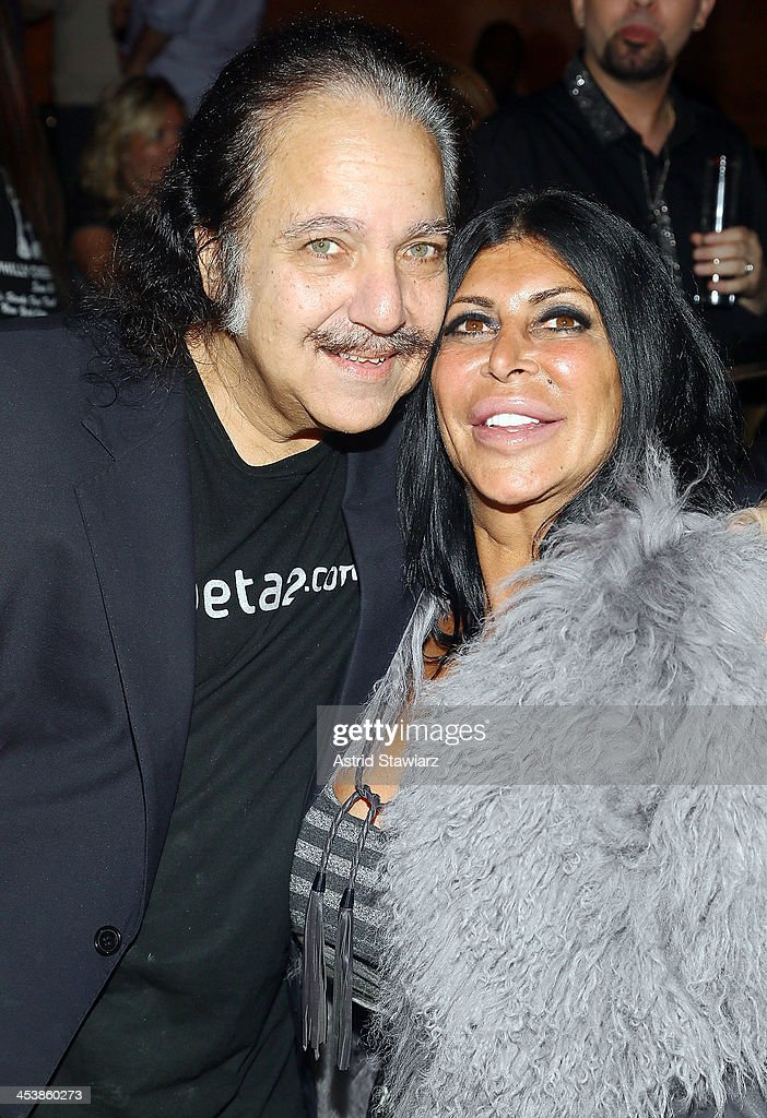 Ron Jeremy and Angela 'Big Ang' Raiola attend 'Mob Wives' Season 4 premiere at Greenhouse on December 5 2013 in New York City