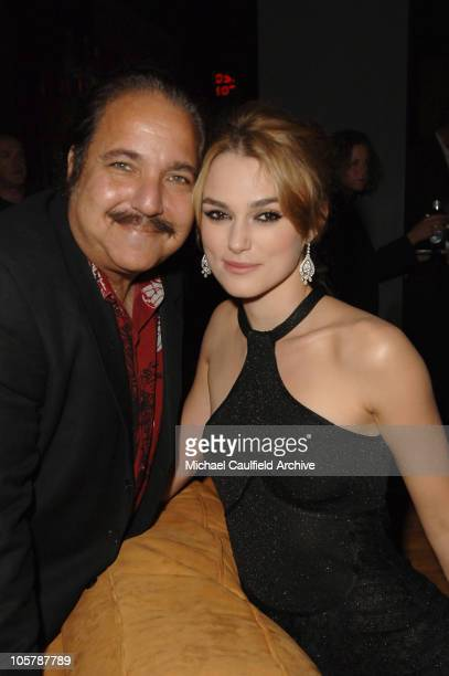 Ron Jeremy and Keira Knightley during New Line Cinema's 'Domino' Los Angeles Premiere After Party at The Highlands in Los Angeles California United...