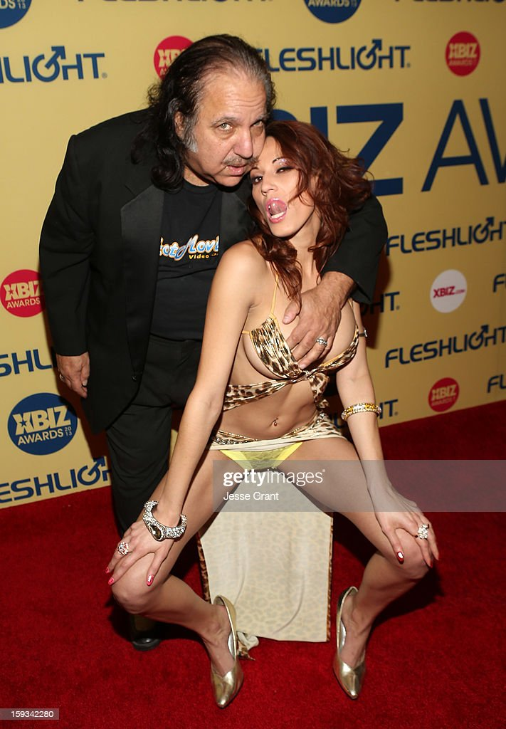 <a gi-track='captionPersonalityLinkClicked' href=/galleries/search?phrase=Ron+Jeremy&family=editorial&specificpeople=206455 ng-click='$event.stopPropagation()'>Ron Jeremy</a> and Layla Rivera attend the 2013 XBIZ Awards at the Hyatt Regency Century Plaza on January 11, 2013 in Los Angeles, California.