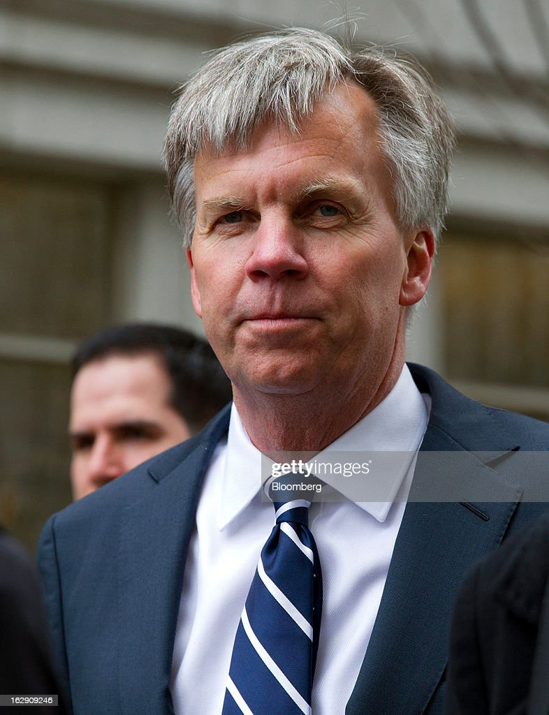 Ron Johnson, chief executive officer of J.C. Penney Co., arrives at State Supreme court in New York, U.S., on Friday, March 1, 2013. Johnson took the witness stand to testify in a dispute between his department-store chain and Macy's Inc. over the right to sell Martha Stewart Living Omnimedia Inc. merchandise. Photographer: Jin Lee/Bloomberg via Getty Images