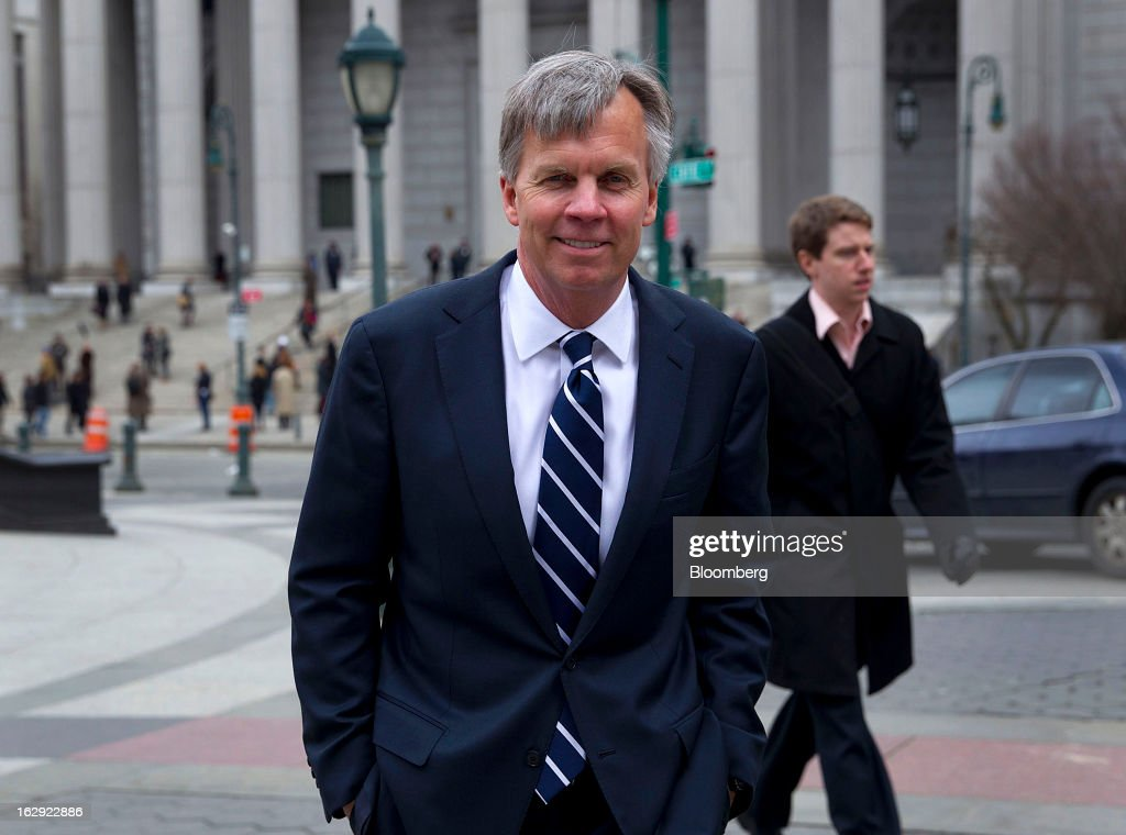 Ron Johnson, chief executive officer of J.C. Penney Co., exits State Supreme court in New York, U.S., on Friday, March 1, 2013. Johnson took the witness stand to testify in a dispute between his department-store chain and Macy's Inc. over the right to sell Martha Stewart Living Omnimedia Inc. merchandise. Photographer: Jin Lee/Bloomberg via Getty Images