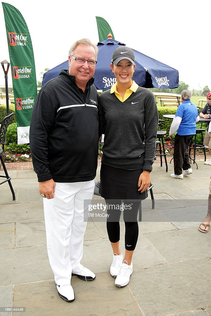 Ron Jworski and <a gi-track='captionPersonalityLinkClicked' href=/galleries/search?phrase=Michelle+Wie&family=editorial&specificpeople=201982 ng-click='$event.stopPropagation()'>Michelle Wie</a>, LPGA Professional, attend the Ron Jaworski's Celebrity Golf Challenge May 20, 2013 at Atlantic City Country Club in Northfield, New Jersey.