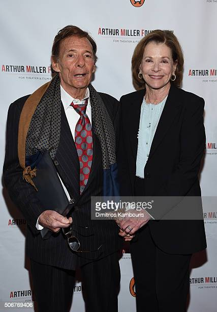 Ron Leibman and Jessica Walter attend Arthur Miller One Night 100 Years Benefit at Lyceum Theatre on January 25 2016 in New York City