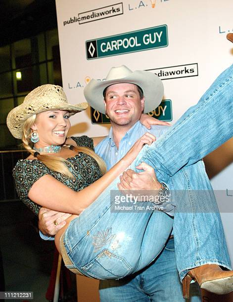 Ron Lester and Jessica Rey during World Premiere of The Public Media Works Independent Feature Film 'Carpool Guy' Arrivals at Arclight Theaters in...