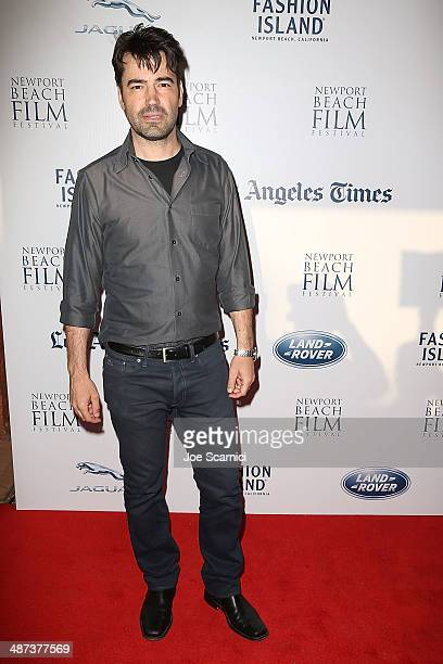 Ron Livingston arrives at the 2014 Newport Beach Film Festival 'Fort Bliss' Premiere at Regency South Coast Village Theater on April 29 2014 in Santa...