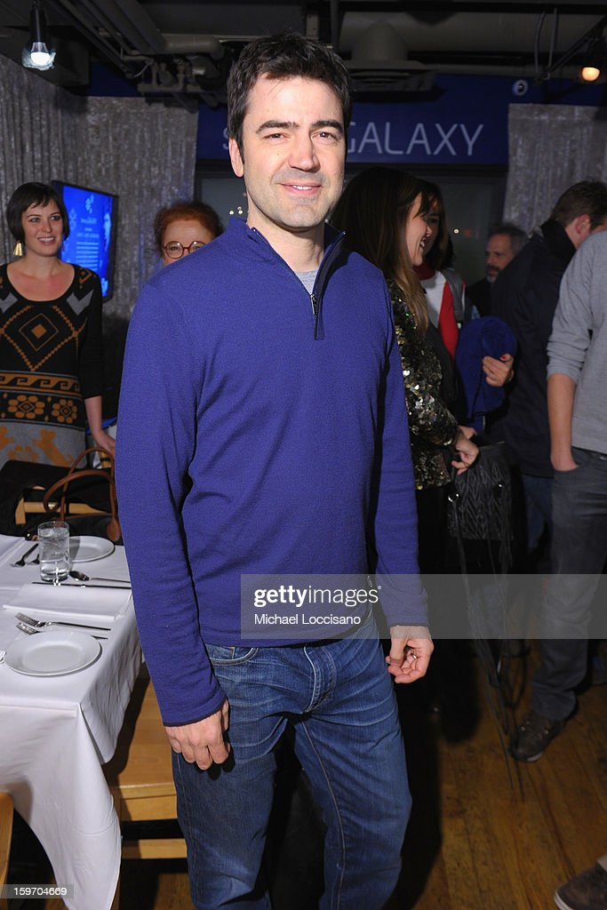 <a gi-track='captionPersonalityLinkClicked' href=/galleries/search?phrase=Ron+Livingston&family=editorial&specificpeople=213878 ng-click='$event.stopPropagation()'>Ron Livingston</a> attends The Samsung Galaxy Lounge Hosts Cast Dinners for 'Touchy Feely' and 'We Are What We Are' at Village At The Lift 2013 on January 18, 2013 in Park City, Utah.