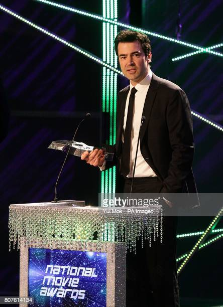 Ron Livingston with the Breakthrough Movie award received for The Time Traveler's Wife during the 2010 National Movie Awards at the Royal Festival...
