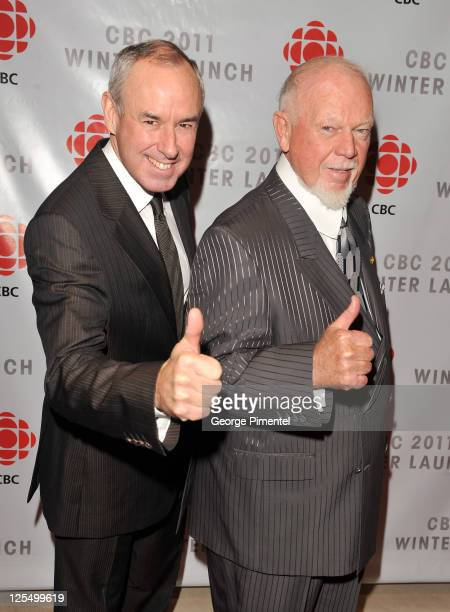 Ron MacLean and Don Cherry attend CBC Winter Launch at TIFF Bell Lightbox on November 18 2010 in Toronto Canada