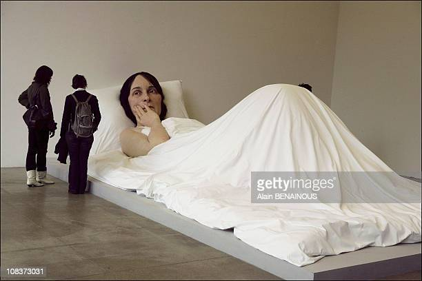 Ron Mueck Exhibition at the Foundation Cartier in Paris France on January 05 2006