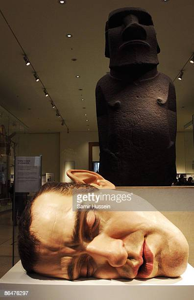 Ron Mueck's 'Mask II' is displayed at the British Museum Statuephilia Exhibition on October 2 2008 in London England