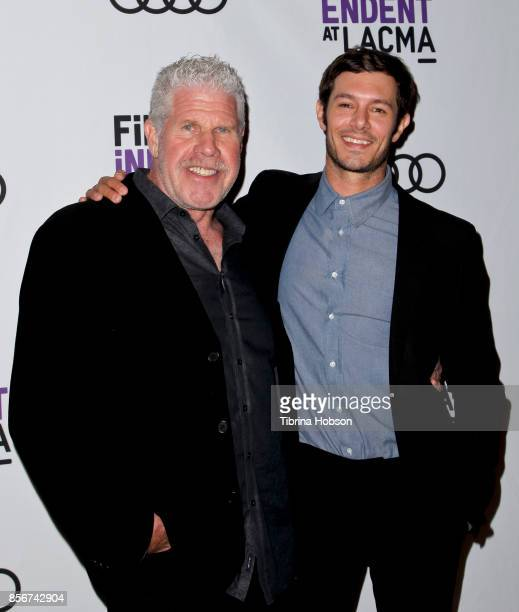 Ron Perlman and Adam Brody attend the screening of 'StartUp' at Bing Theater At LACMA on September 28 2017 in Los Angeles California