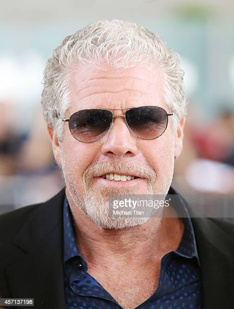 Ron Perlman arrives at the Los Angeles premiere of 'Book Of Life' held at Regal Cinemas LA Live on October 12 2014 in Los Angeles California