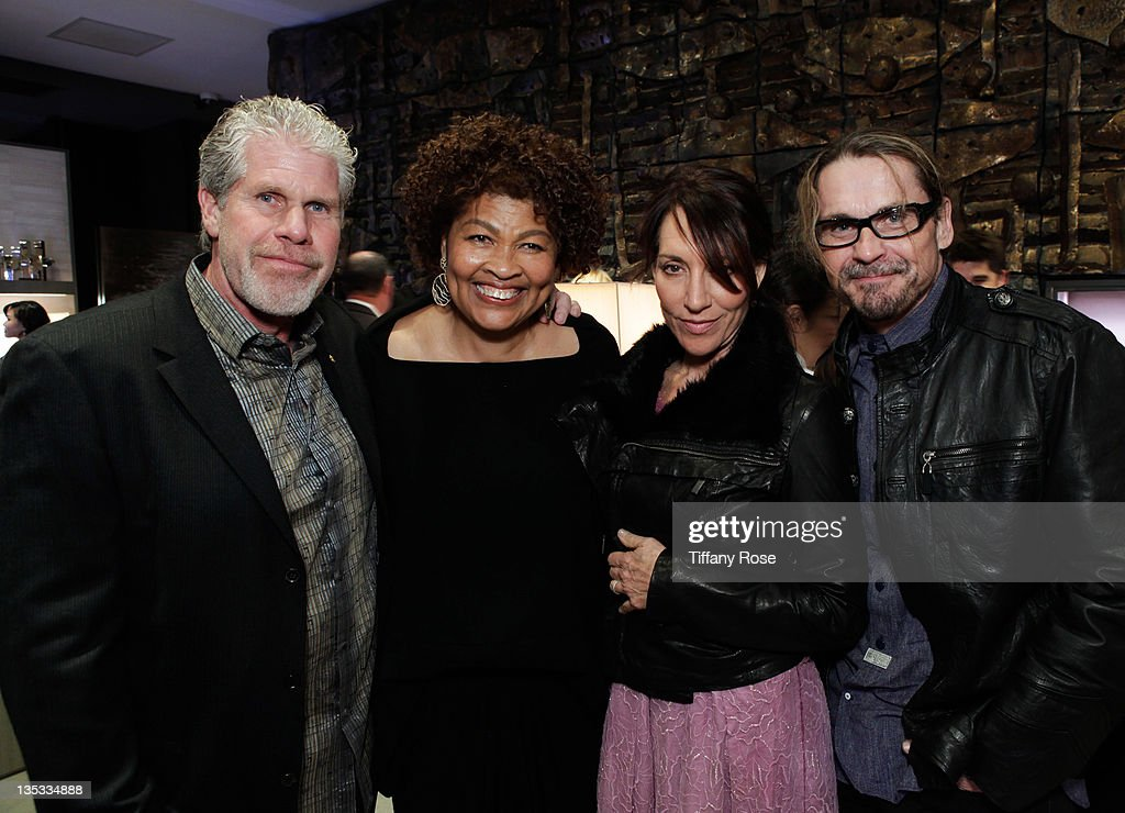 Ron Perlman along with Opal Stone, Katey Sagal and Kurt Sutter attends the Opal Stone Luxury