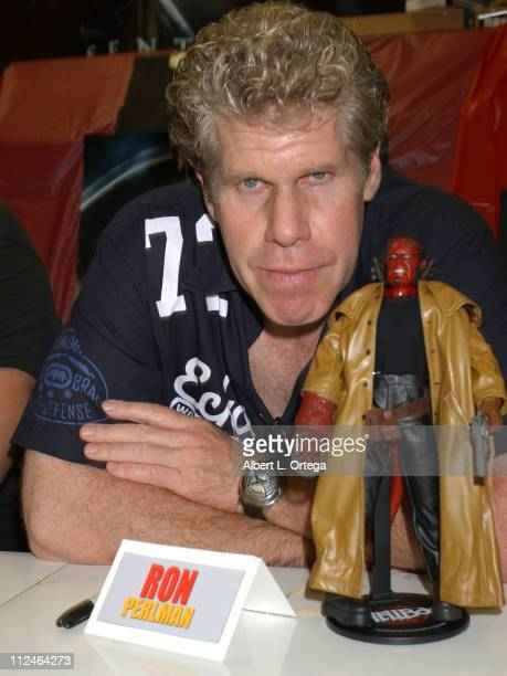 Ron Perlman with 'Hellboy' during 'Hellboy' DVD Release Celebration at Golden Apple Comics in Los Angeles CA United States