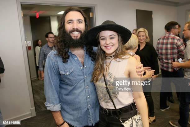 Ron Pope and Hayley Orrantia attend APA Nashville's open house at One Nashville Place on June 6 2017 in Nashville Tennessee