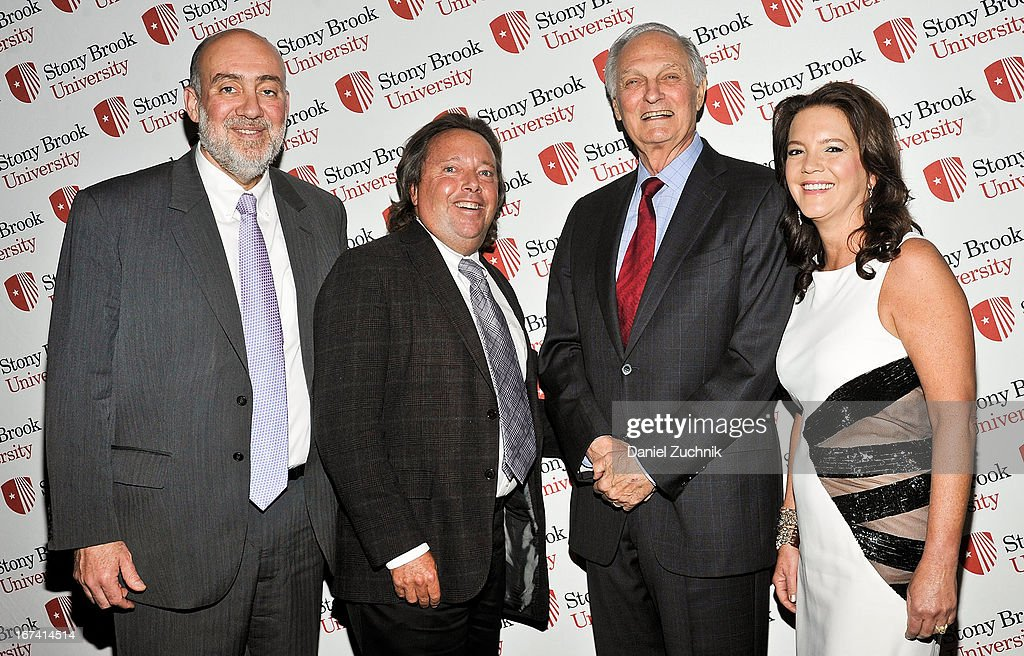 Ron Prosor, Richard L. Gelfond, Alan Alda and Peggy Gelfond attend the 2013 Stars Of Stony Brook Gala at Pier 60 on April 24, 2013 in New York City.