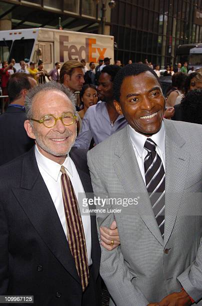 Ron Rifkin and Carl Lumbly during ABC 2004/2005 Primetime Upfront Arrivals at Cipriani's in New York City New York United States