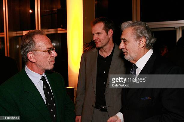 Ron Rifkin Jack Coleman and Placido Domingo attend the Dinner Reception for the Los Angeles Opera's Opening Performance of 'La Boheme' in Los Angeles...