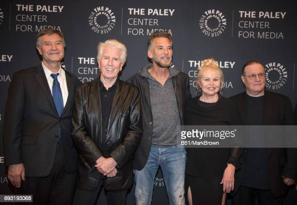 Ron Simon Graham Nash Kenny Loggins Michelle Phillips and Allan Kozinn attend All You Need Is The Summer Of Love performance and discussion at The...