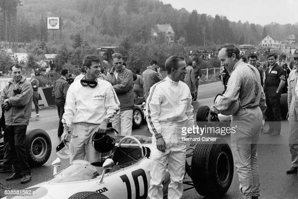 Ron Tauranac Ronnie Bucknum Dan Gurney Richie Ginther John Surtees Grand Prix of Belgium Spa Francorchamps 13 June 1965 Richie Ginther and John...