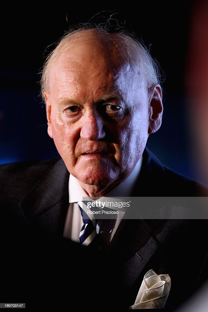 Ron Walker Chairman of the Grand Prix Corporation looks on during the 2013 Formula One Australian Grand Prix Launch on February 5, 2013 in Melbourne, Australia.