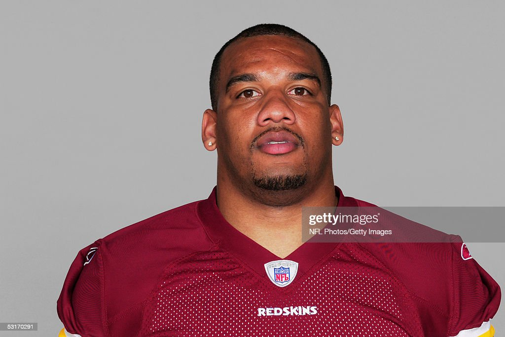 Ron Warner of the Washington Redskins poses for his 2005 NFL headshot at photo day in Landover, Maryland.