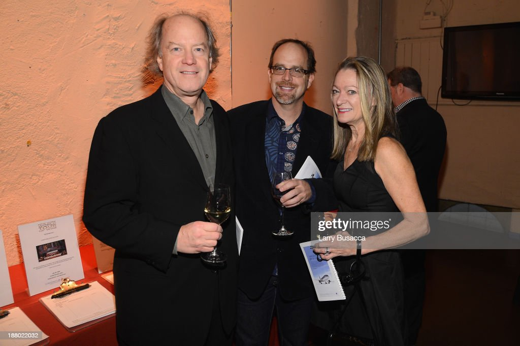 Ron Wilcock, Bob Frank and Susan Sullivan attend T.J. Martell Foundation's Annual World Tour of Wine Dinner at The Angel Orensanz Foundation on November 14, 2013 in New York City.
