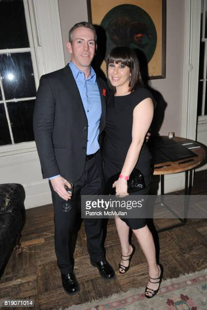 Ron Wittman and Lauren Rodolitz attend INSPIRATION GALA Launch Event Hosted by amfAR at Norwood on March 18 2010 in New York City