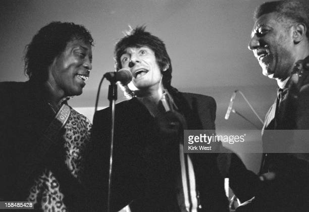 Ron Wood and Buddy Guy perform at the Checkerboard Lounge Chicago Illinois 1989