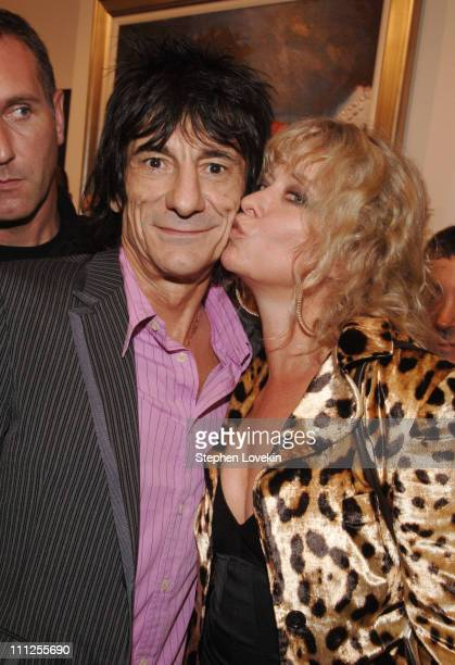 Ron Wood and Jo Wood during Ron Wood Art Opening in SoHo at Pop International Art Gallery in New York City NY United States
