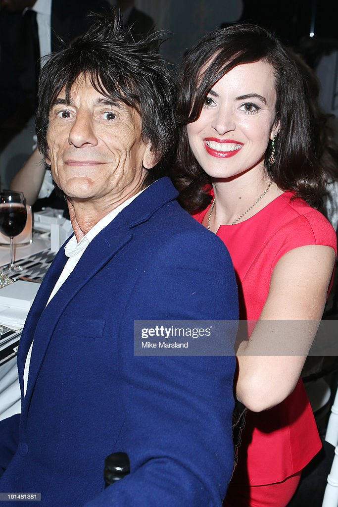 Ron Wood and Sally Humphreys attend the Elle Style Awards at The Savoy Hotel on February 11, 2013 in London, England.