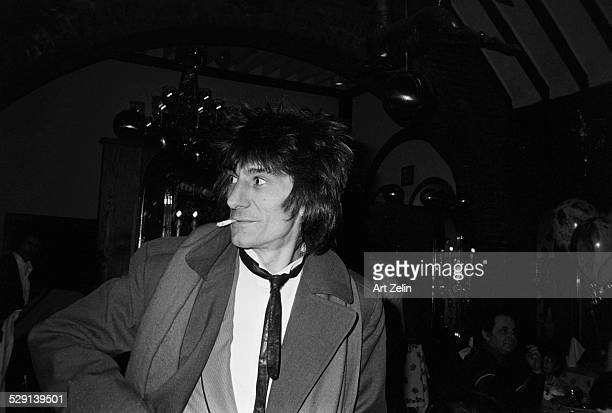 Ron Wood is an English musician singer and songwriter and one of the original members of the English rock band the Rolling Stones circa 1970 New York