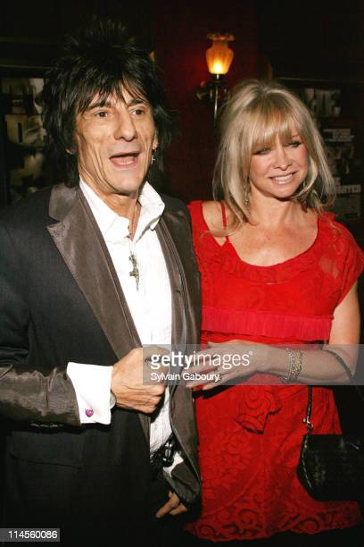 Ron Wood with his wife Jo Wood during 'The Departed' New York Premiere at Ziegfeld Theater in New York NY United States