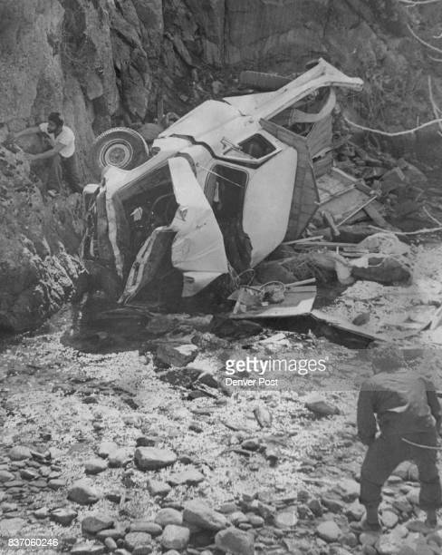 Rona^ 8 Kramer 5 Lafayette Colo jump*' from his pickup truck escaping injury lUs' before the truck went over a ledg« °nd plunged into rocks of...