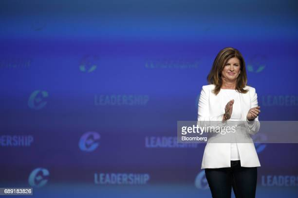 Rona Ambrose interim leader of Canada's Conservative Party applauds on stage during the Conservative Party Of Canada Leadership Conference in Toronto...