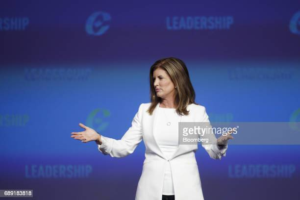 Rona Ambrose interim leader of Canada's Conservative Party speaks during the Conservative Party Of Canada Leadership Conference in Toronto Ontario...