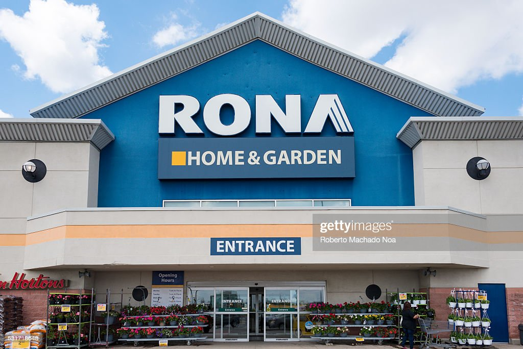 Rona Home And Garden Sign At The Store Entrance The