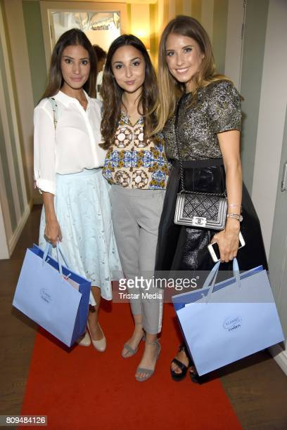 Rona Oezkan Nadine Menz and Cathy Hummels attend the Klambt Fashion Cocktail in Berlin at Soho House on July 5 2017 in Berlin Germany