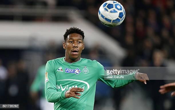 Ronael PierreGabriel of AS Saint Etienne in action during the French League Cup match between Paris SaintGermain and AS SaintEtienne at Parc des...