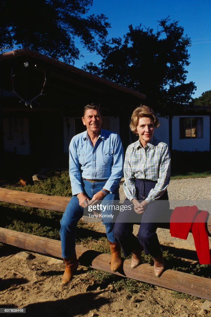 Ronald and Nancy Reagan at Rancho del Cielo