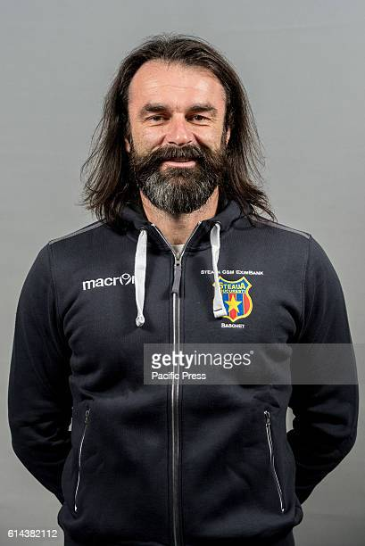 GARDA 'MIHAI VITEAZUL' BUCHAREST ROMANIA Ronald Anzur the physical trainer of Steaua CSM EximBank Bucharest during the oficial photo session of...