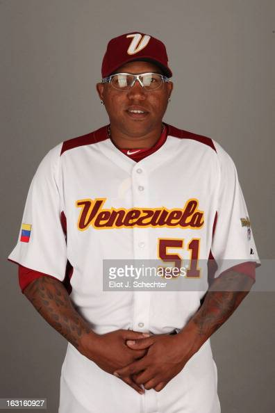 Ronald Belisario of Team Venezuela poses for a headshot for the 2013 World Baseball Classic at Roger Dean Stadium on Monday March 4 2013 in Jupiter...