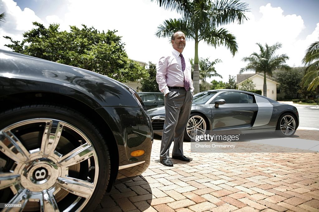 Ronald Book, a powerful Florida lobbyist poses for photos in his home on June 19, 2009 in Miami, Florida. Mr Book used his connections to make sure about 75 sexual offenders live under the Julia Tuttle causeway bridge due to zoning restrictions that leave them nowhere else to go.