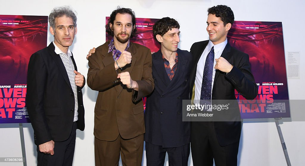 Ronald Bronstein, Josh Safdie, Buddy Duress and Benny Safdie attend the 'Heaven Knows What' New York Premiere at the Celeste Bartos Theater at the Museum of Modern Art on May 18, 2015 in New York City.