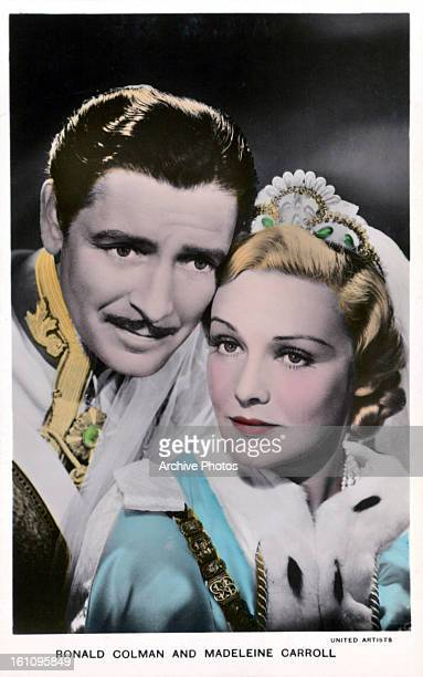 Ronald Colman and Madeleine Carroll in publicity portrait for the film 'The Prisoner Of Zenda' 1937