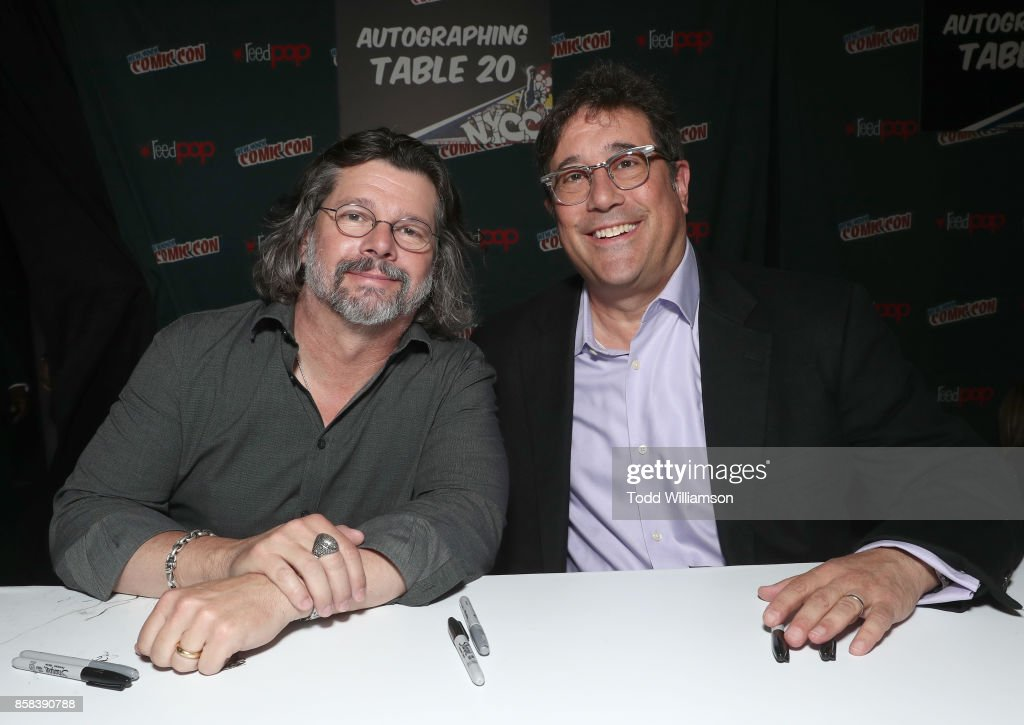 Ronald D. Moore (L) and David Kantor attend 'The World of Philip K. Dick' - The Man in the High Castle and Philip K. Dick's Electric Dreams Panel at Hammerstein Ballroom on October 6, 2017 in New York City.