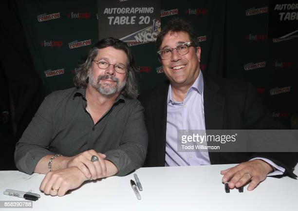 Ronald D Moore and David Kantor attend 'The World of Philip K Dick' The Man in the High Castle and Philip K Dick's Electric Dreams Panel at...