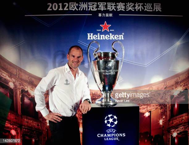 Ronald de Boer poses with UCL Trophy on April 6 2012 in Shanghai China